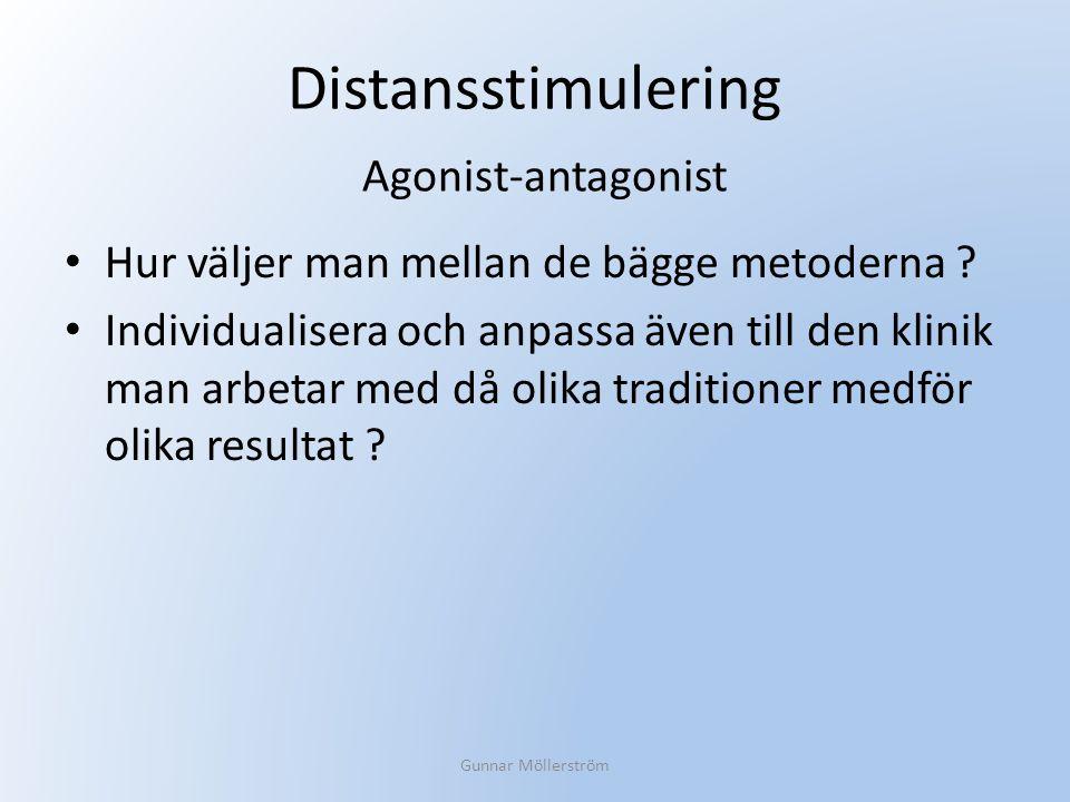 Distansstimulering Agonist-antagonist