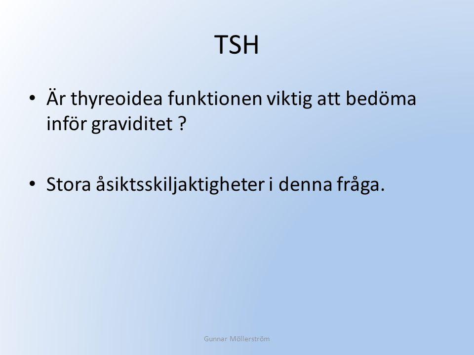 TSH Är thyreoidea funktionen viktig att bedöma inför graviditet