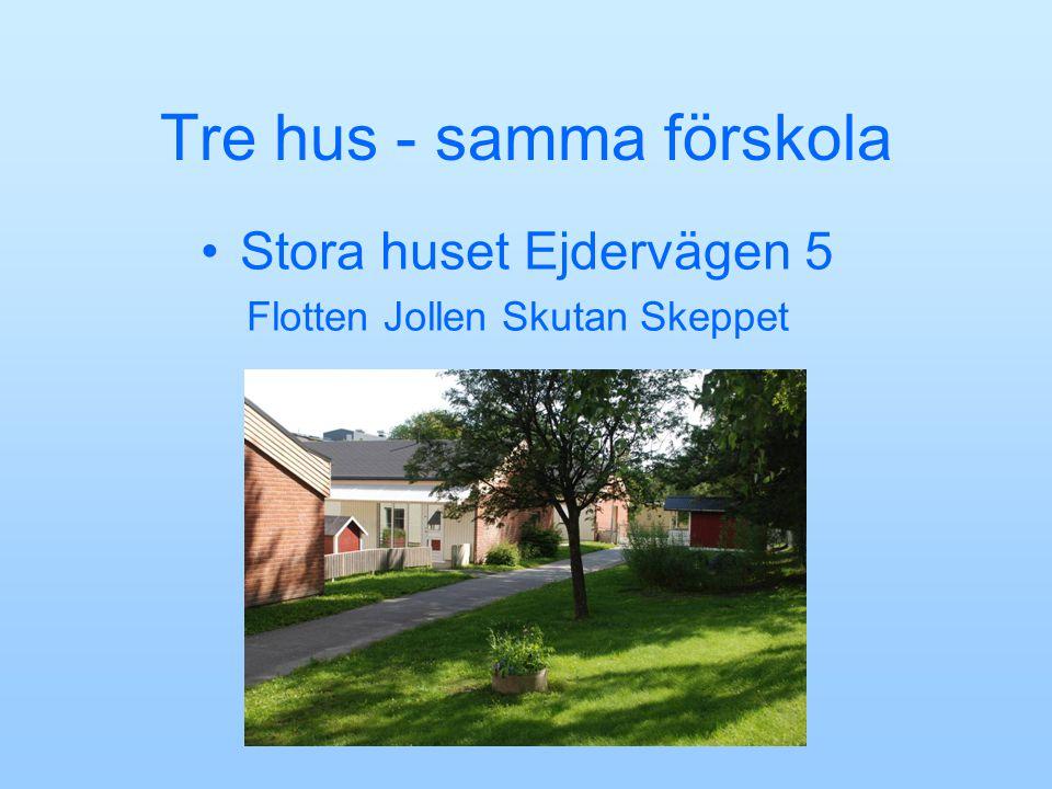 Tre hus - samma förskola