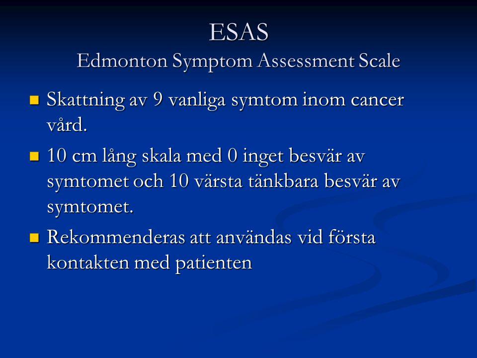 ESAS Edmonton Symptom Assessment Scale