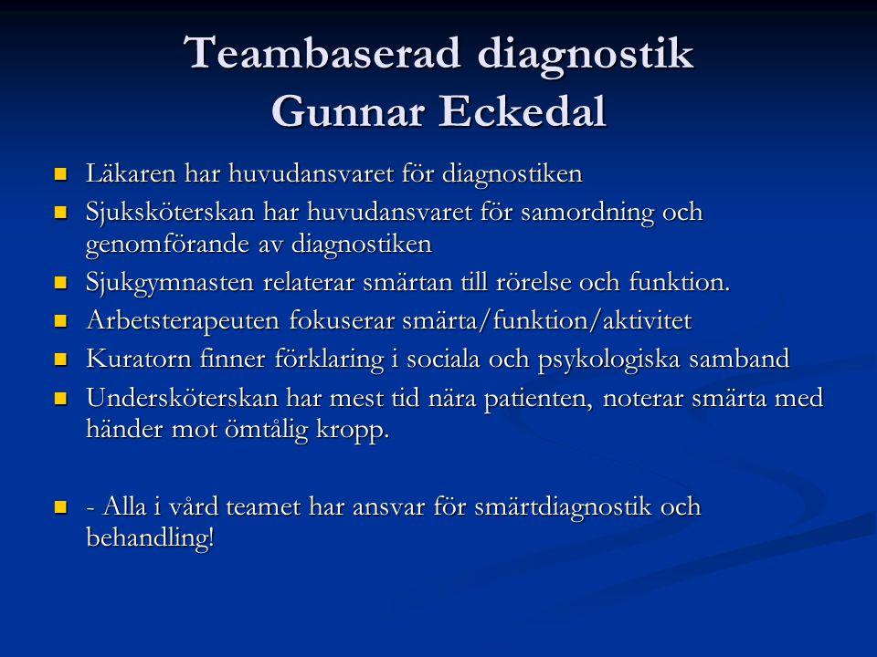 Teambaserad diagnostik Gunnar Eckedal