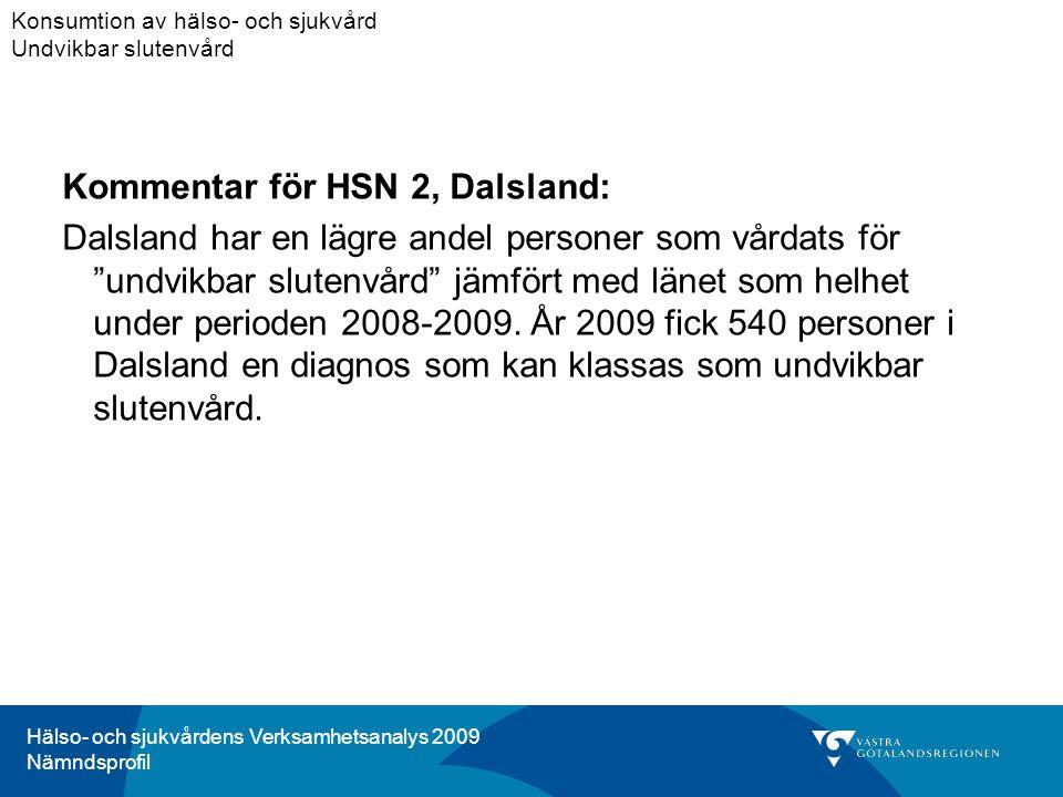 Kommentar för HSN 2, Dalsland: