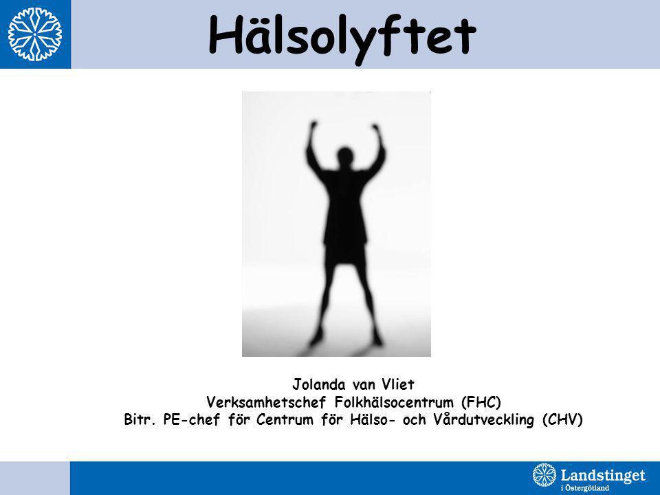 Hälsolyftet Jolanda van Vliet Verksamhetschef Folkhälsocentrum (FHC)