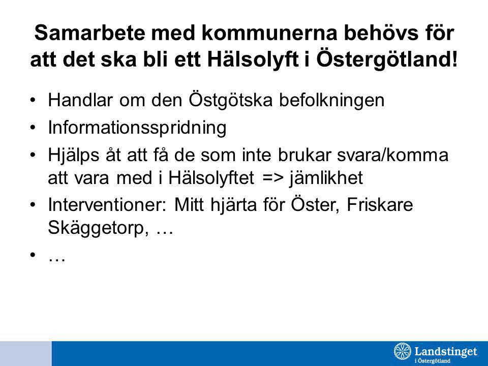 Samarbete med kommunerna behövs för att det ska bli ett Hälsolyft i Östergötland!