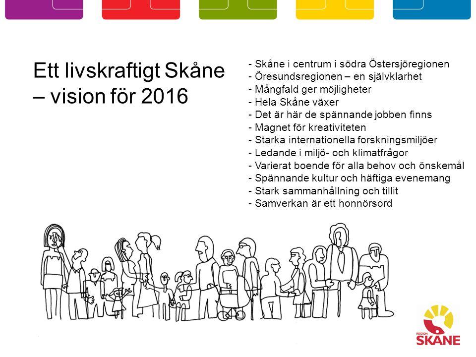 Ett livskraftigt Skåne – vision för 2016