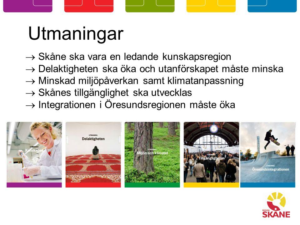 Utmaningar Skåne ska vara en ledande kunskapsregion