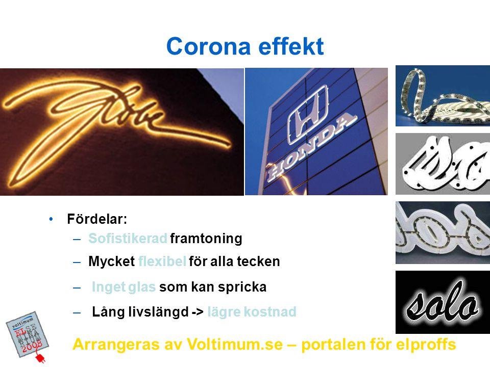 Corona effekt Arrangeras av Voltimum.se – portalen för elproffs