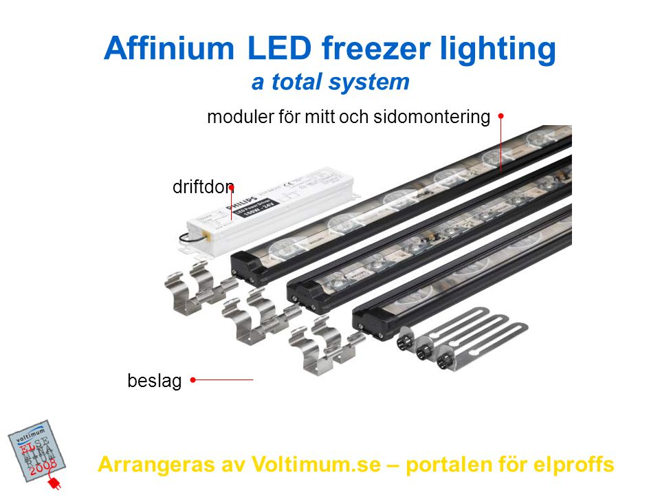 Affinium LED freezer lighting a total system