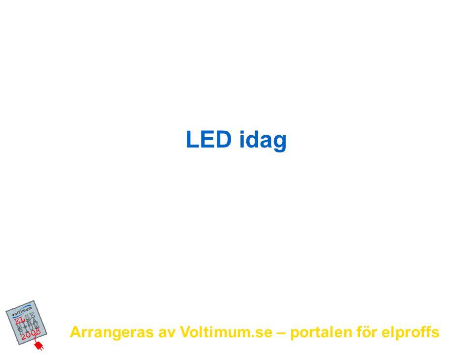 LED idag Arrangeras av Voltimum.se – portalen för elproffs
