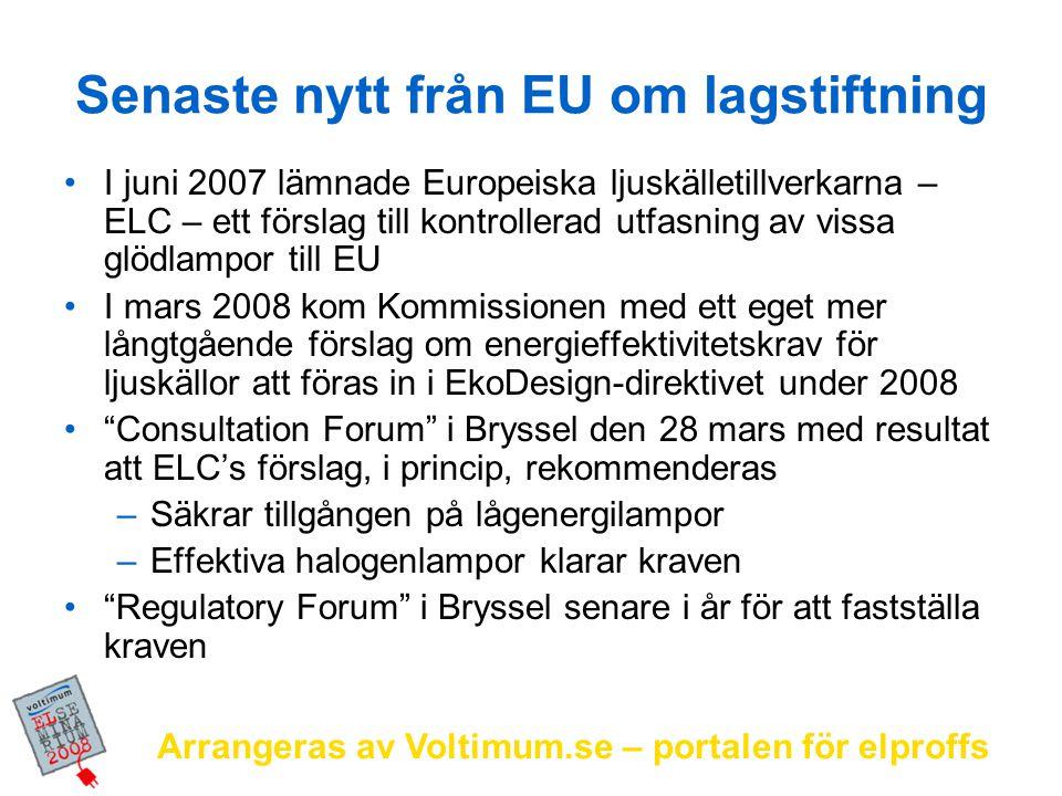 Senaste nytt från EU om lagstiftning