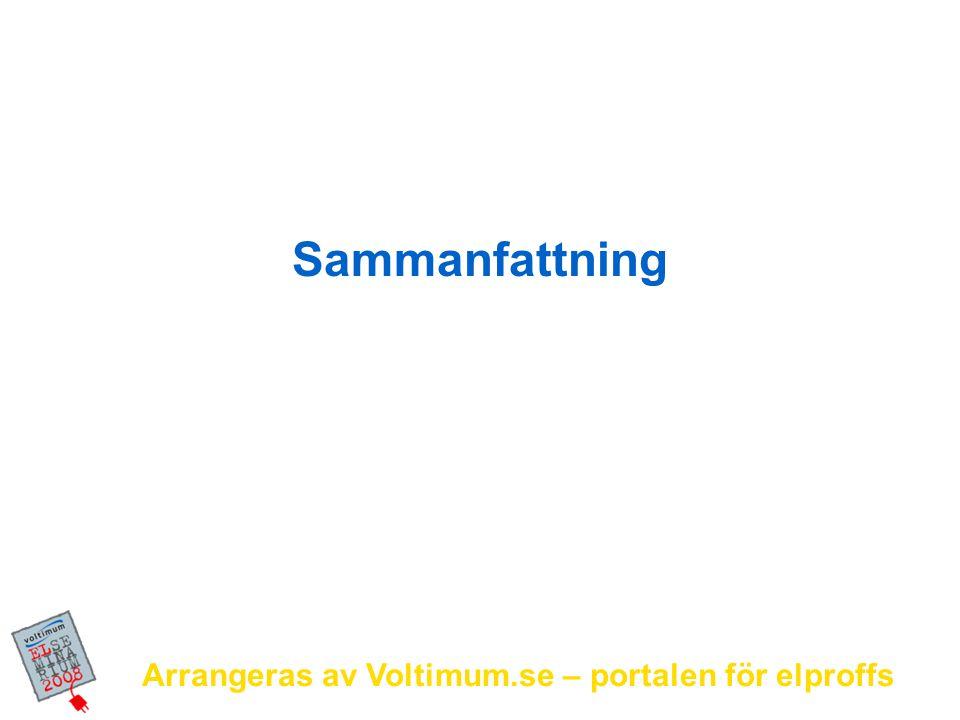 Sammanfattning Arrangeras av Voltimum.se – portalen för elproffs