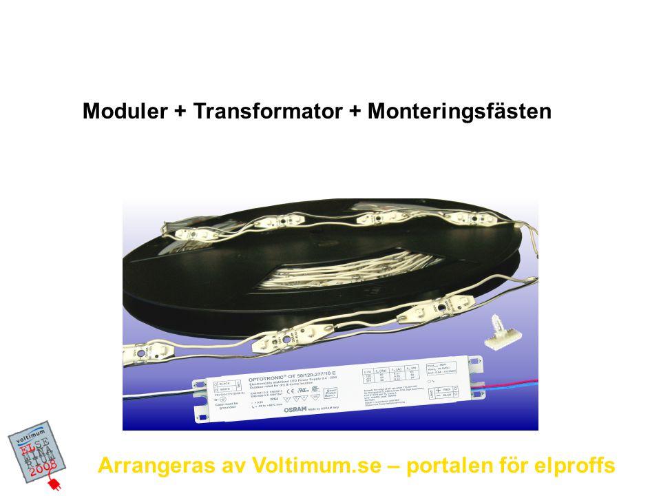 Moduler + Transformator + Monteringsfästen