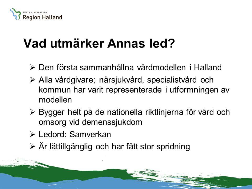 Vad utmärker Annas led Den första sammanhållna vårdmodellen i Halland