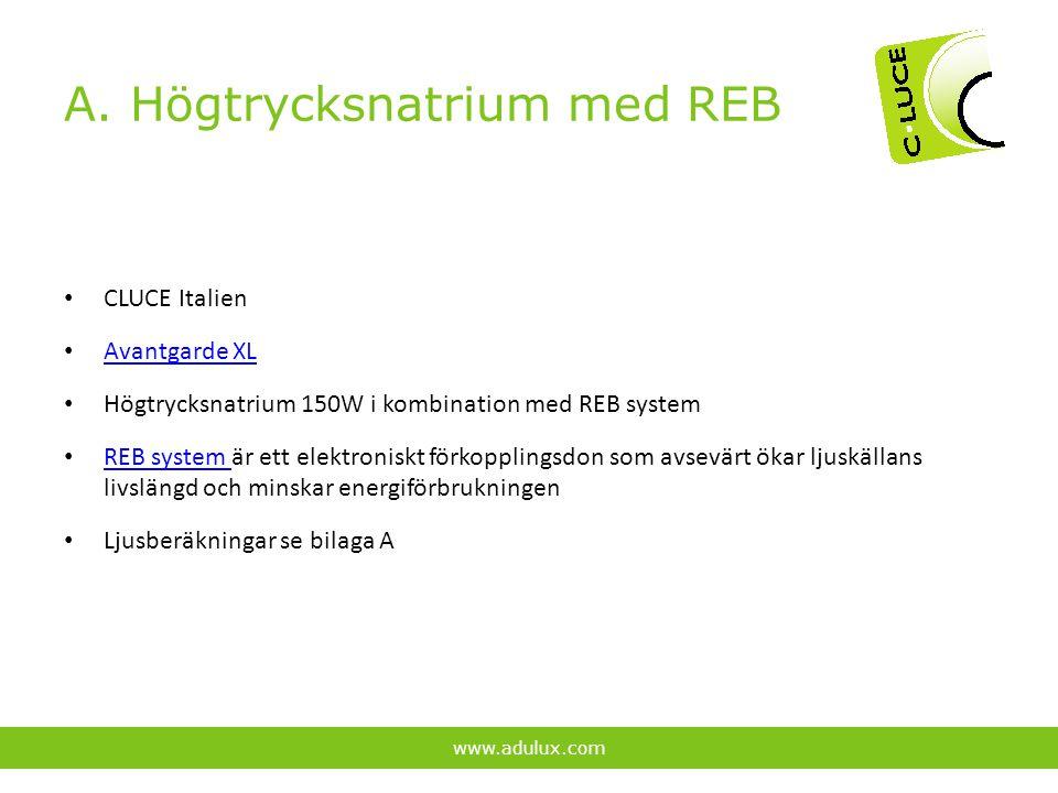 A. Högtrycksnatrium med REB