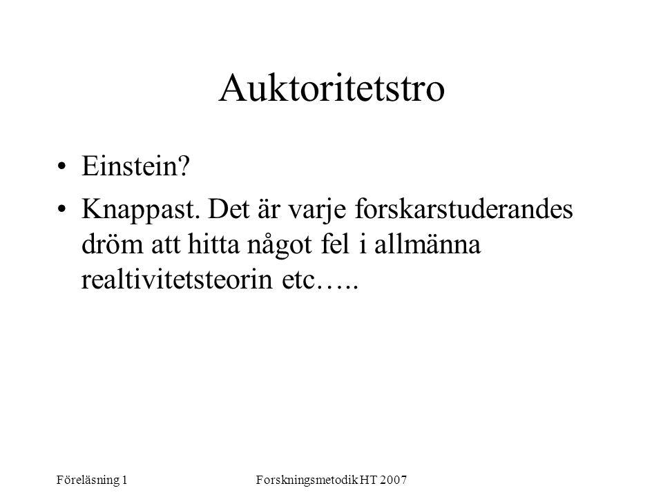 Auktoritetstro Einstein
