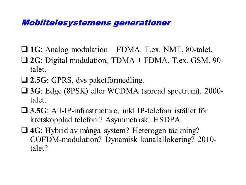 Mobiltelesystemens generationer