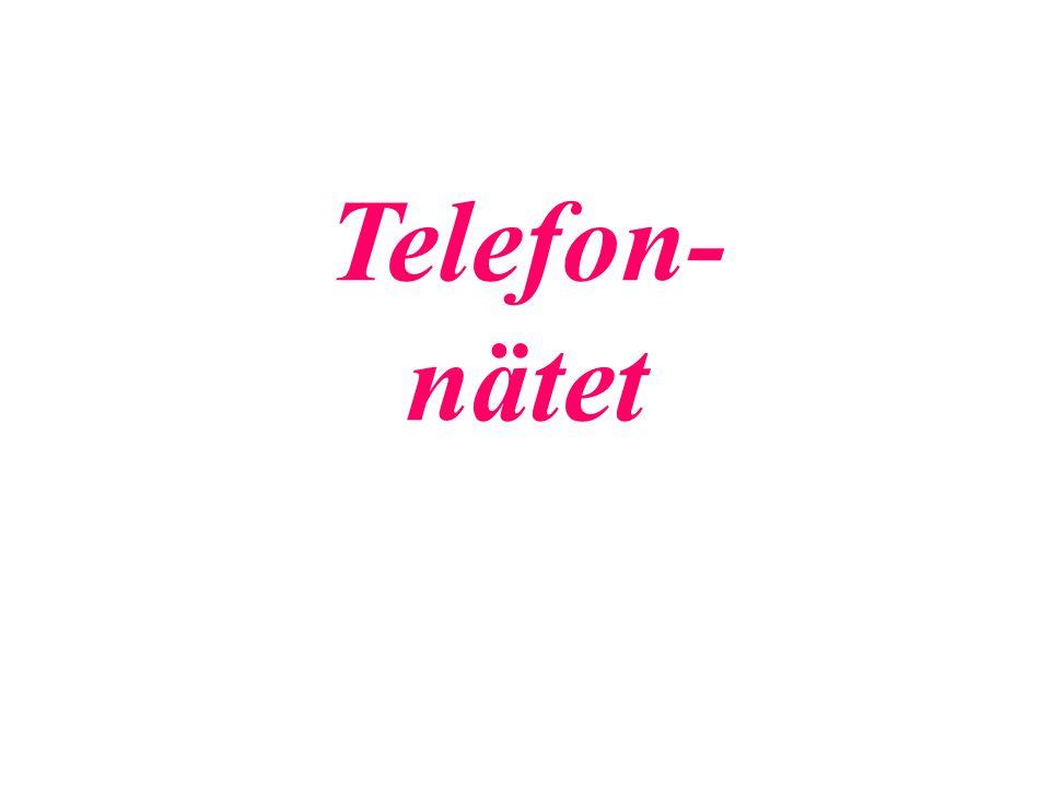 Telefon- nätet