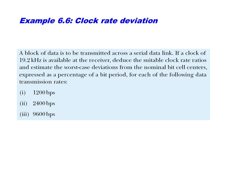 Example 6.6: Clock rate deviation