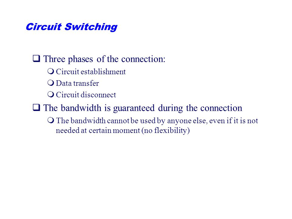 Three phases of the connection: