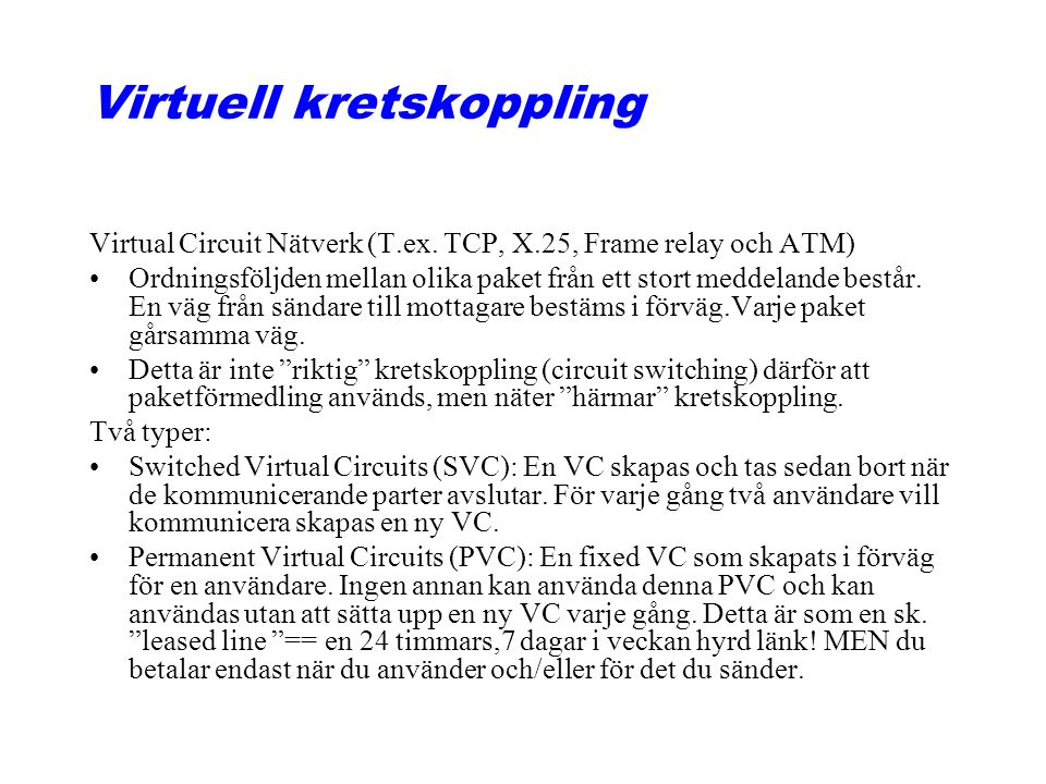 Virtuell kretskoppling