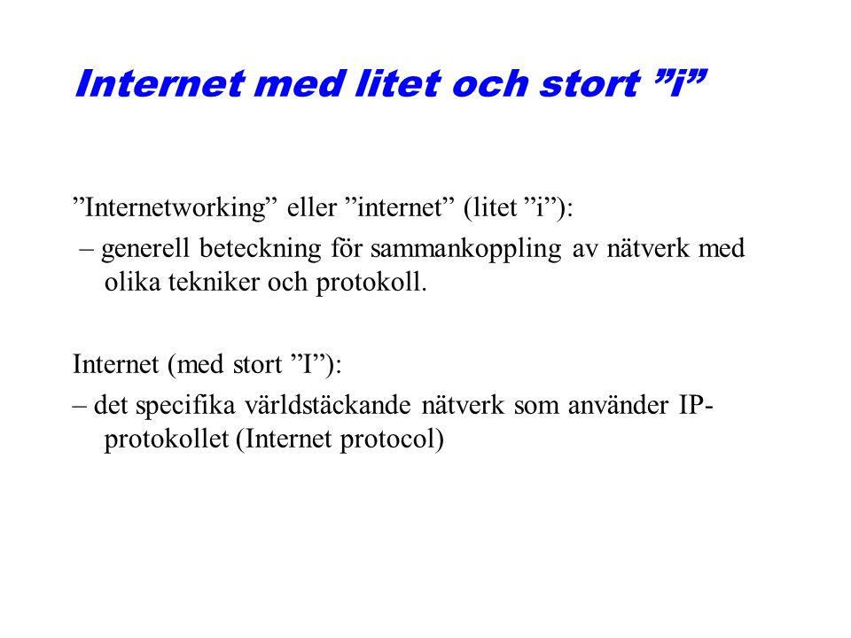 Internet med litet och stort i