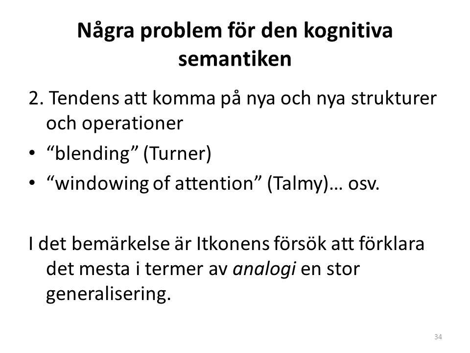 Några problem för den kognitiva semantiken