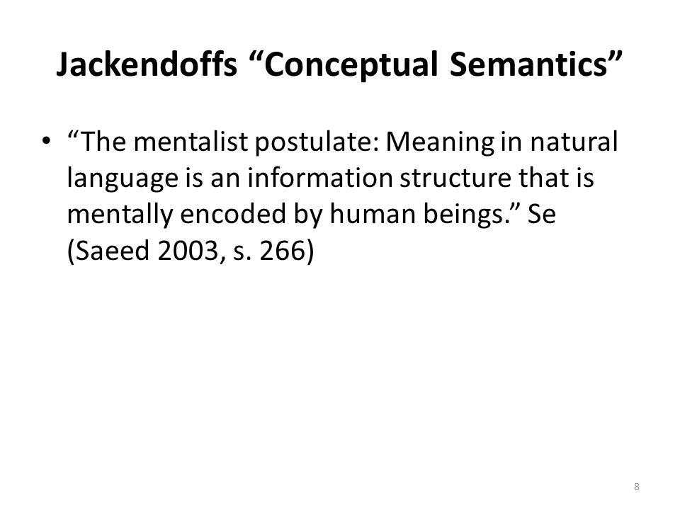 Jackendoffs Conceptual Semantics