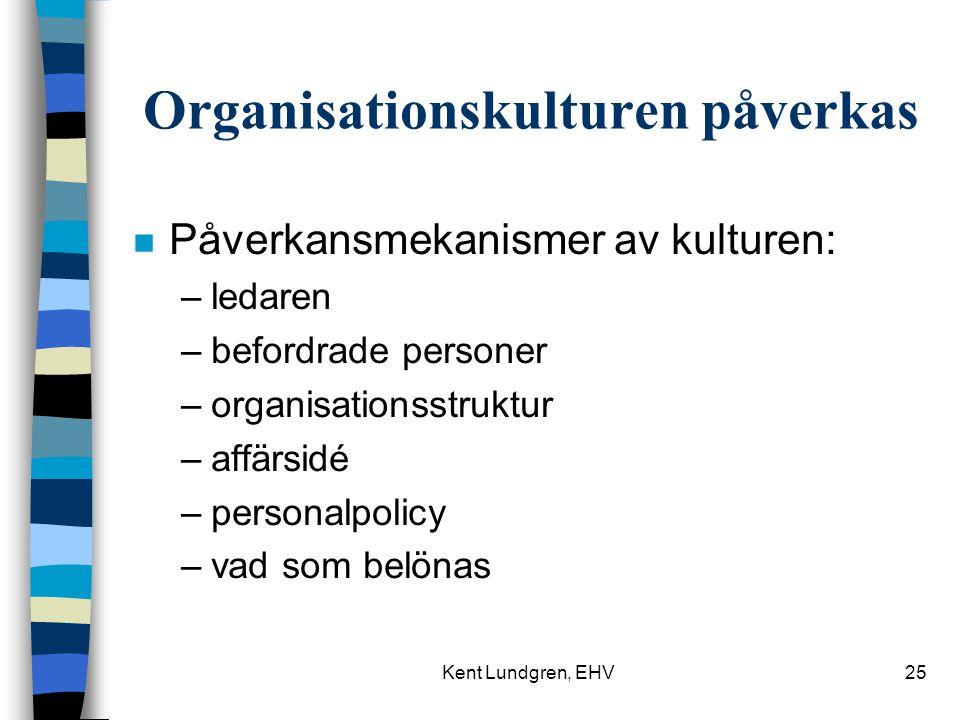Organisationskulturen påverkas