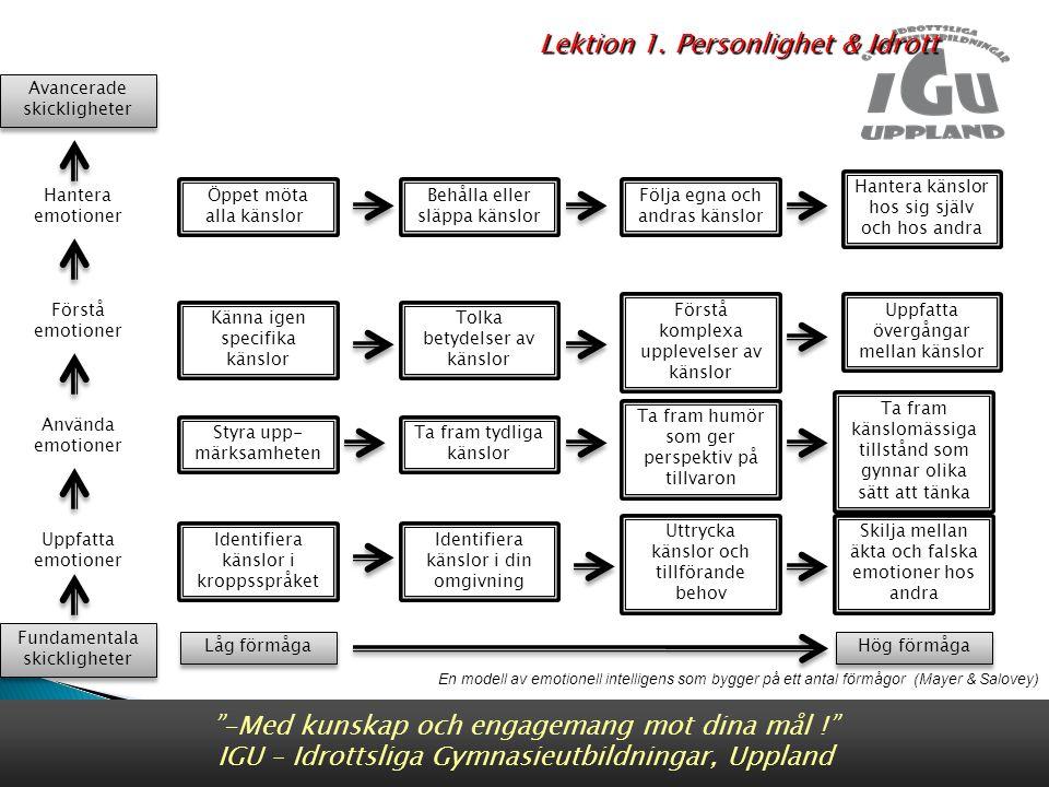 Lektion 1. Personlighet & Idrott