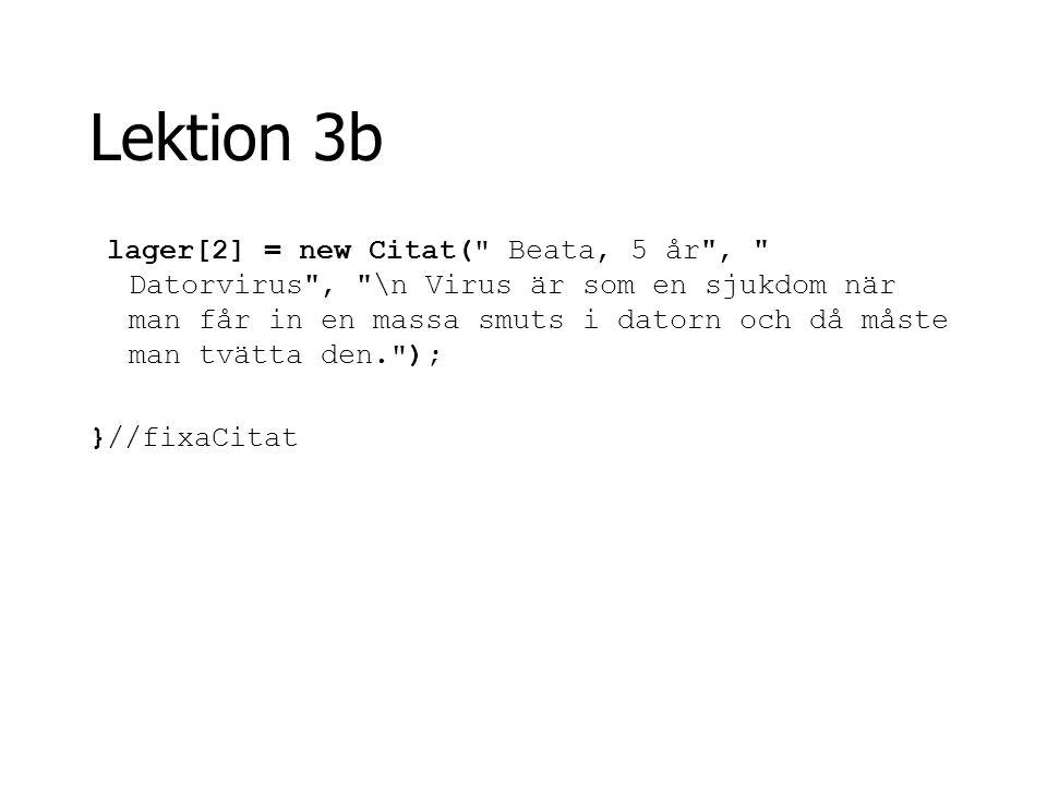 Lektion 3b