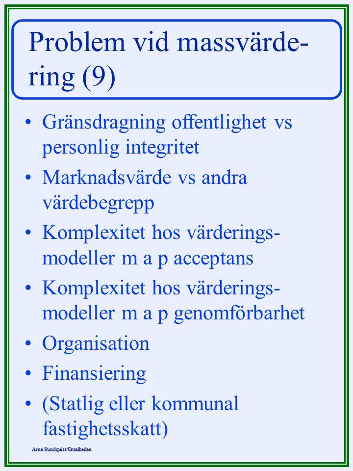 Problem vid massvärde- ring (9)