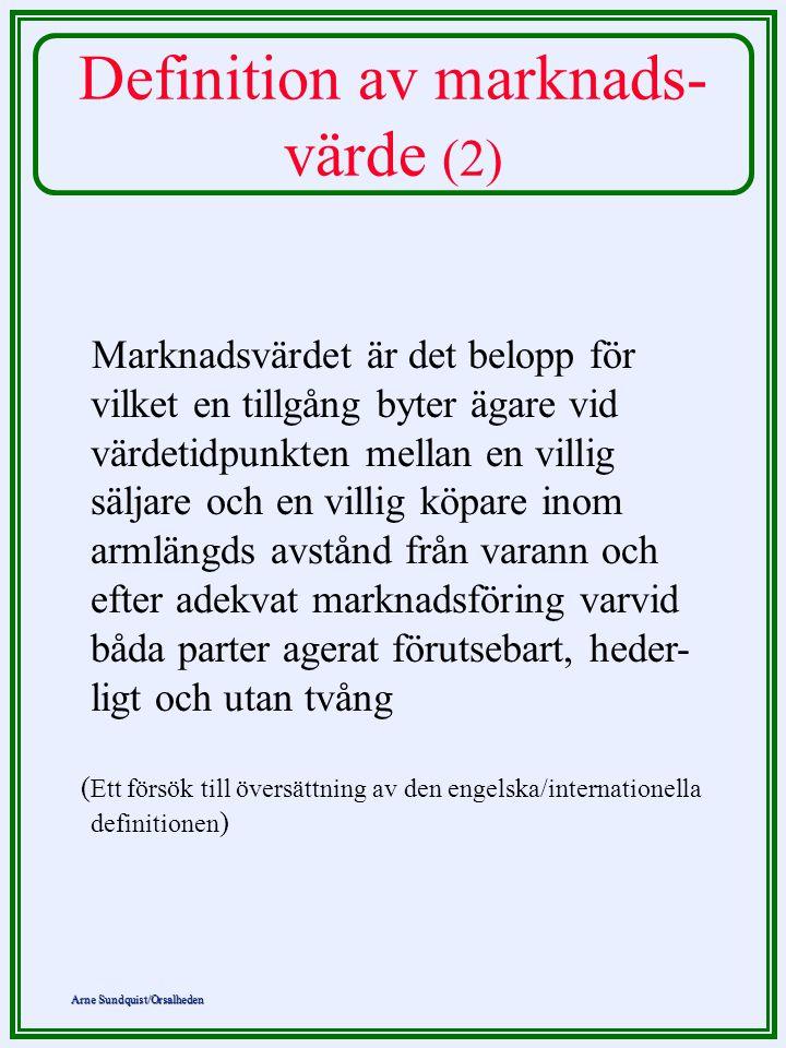 Definition av marknads-värde (2)