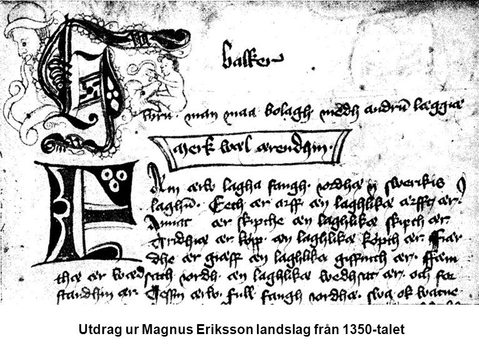 Utdrag ur Magnus Eriksson landslag från 1350-talet