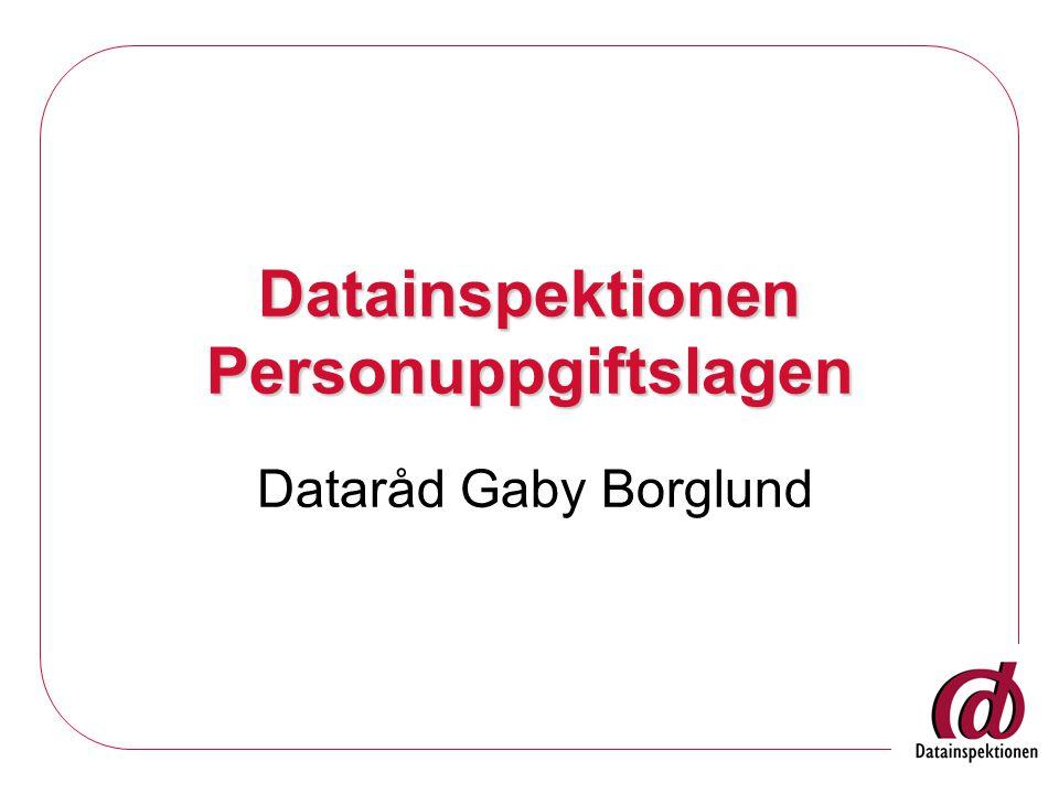 Datainspektionen Personuppgiftslagen