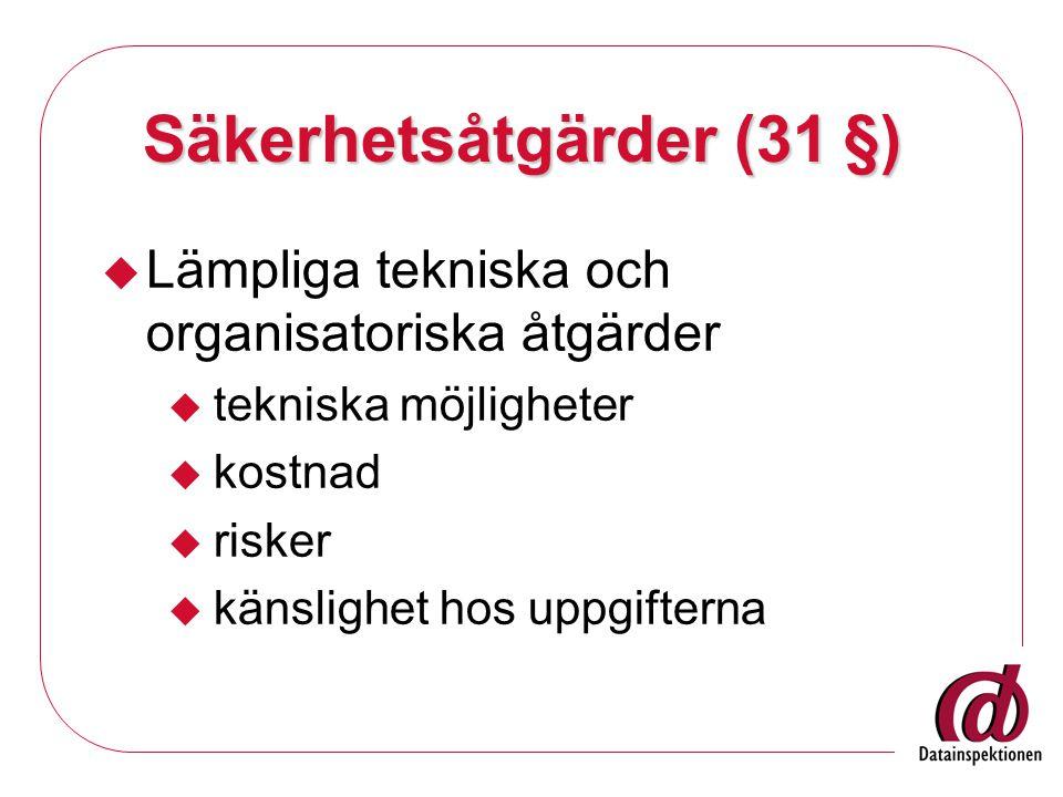 Säkerhetsåtgärder (31 §)