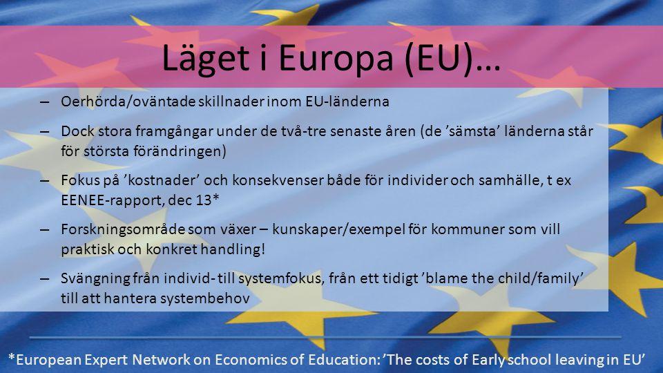 Läget i Europa (EU)… Oerhörda/oväntade skillnader inom EU-länderna
