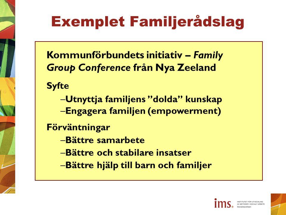 Exemplet Familjerådslag