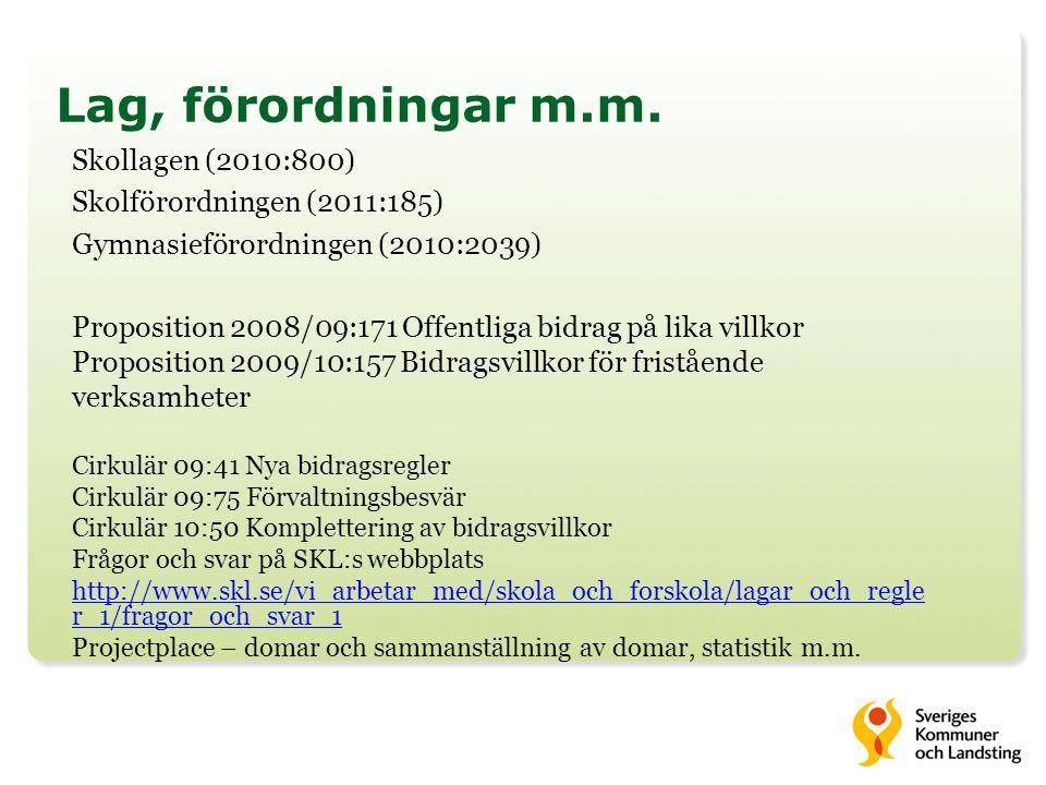 Lag, förordningar m.m. Skollagen (2010:800)