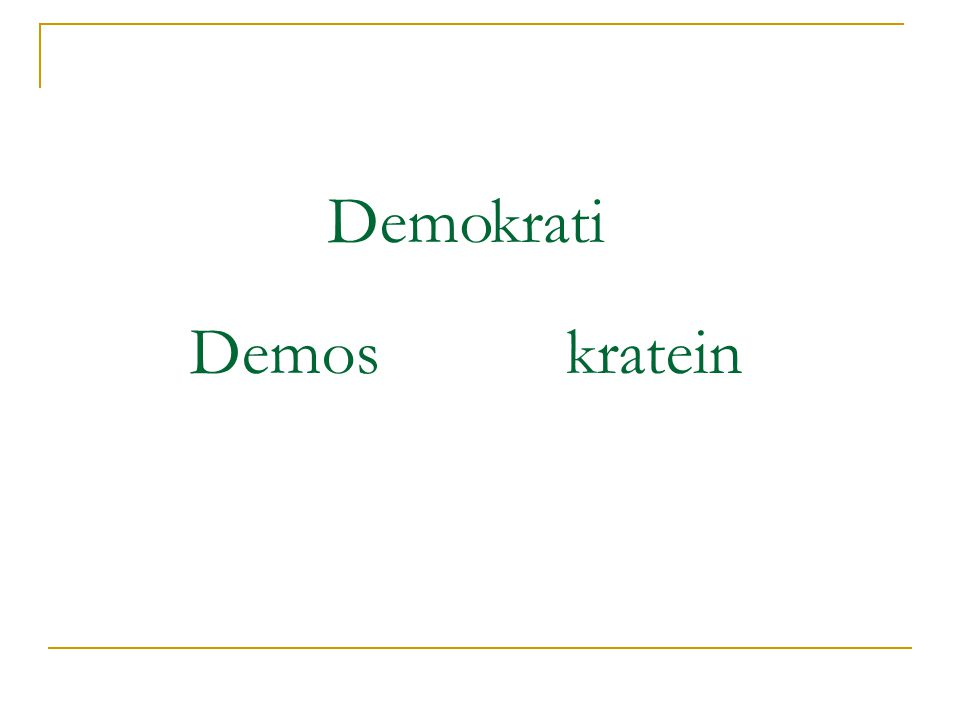 Demo krati Demos kratein