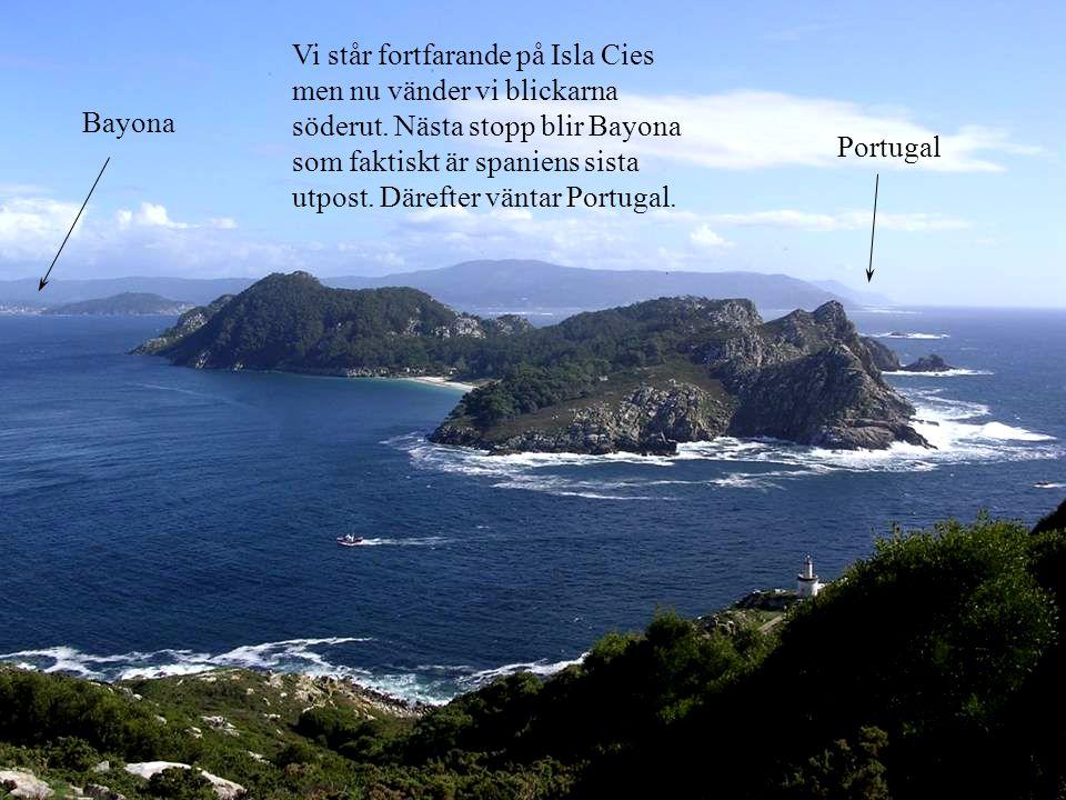Vi står fortfarande på Isla Cies men nu vänder vi blickarna söderut