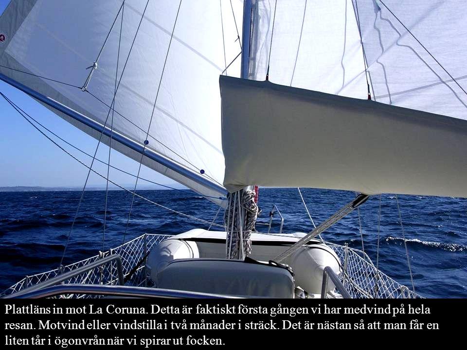 Plattläns in mot La Coruna