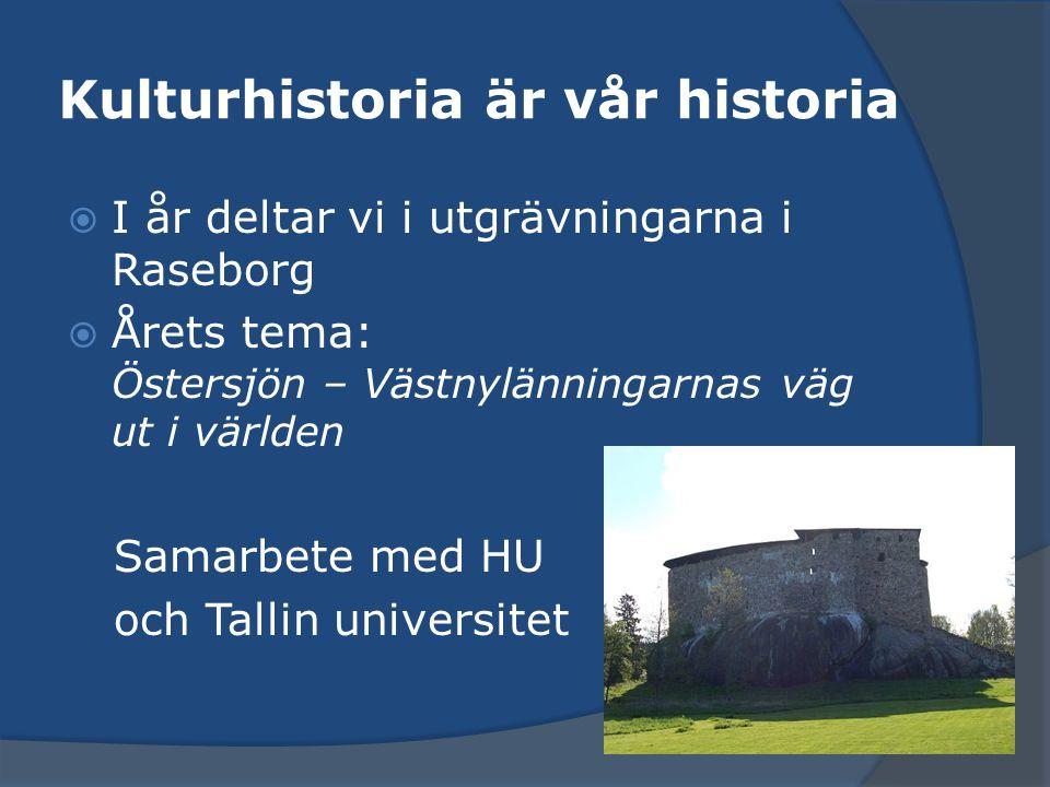 Kulturhistoria är vår historia