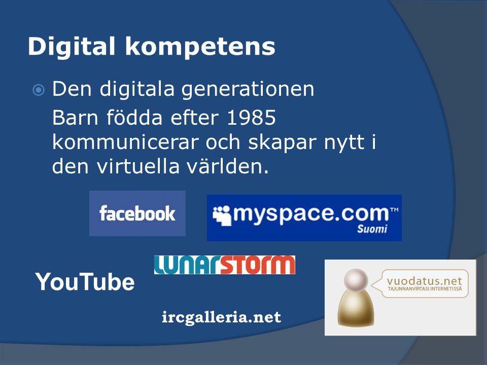 Digital kompetens YouTube Den digitala generationen