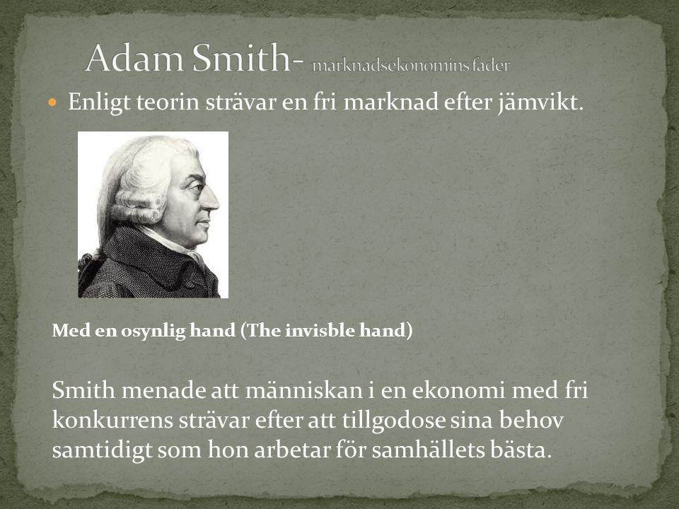 Adam Smith- marknadsekonomins fader