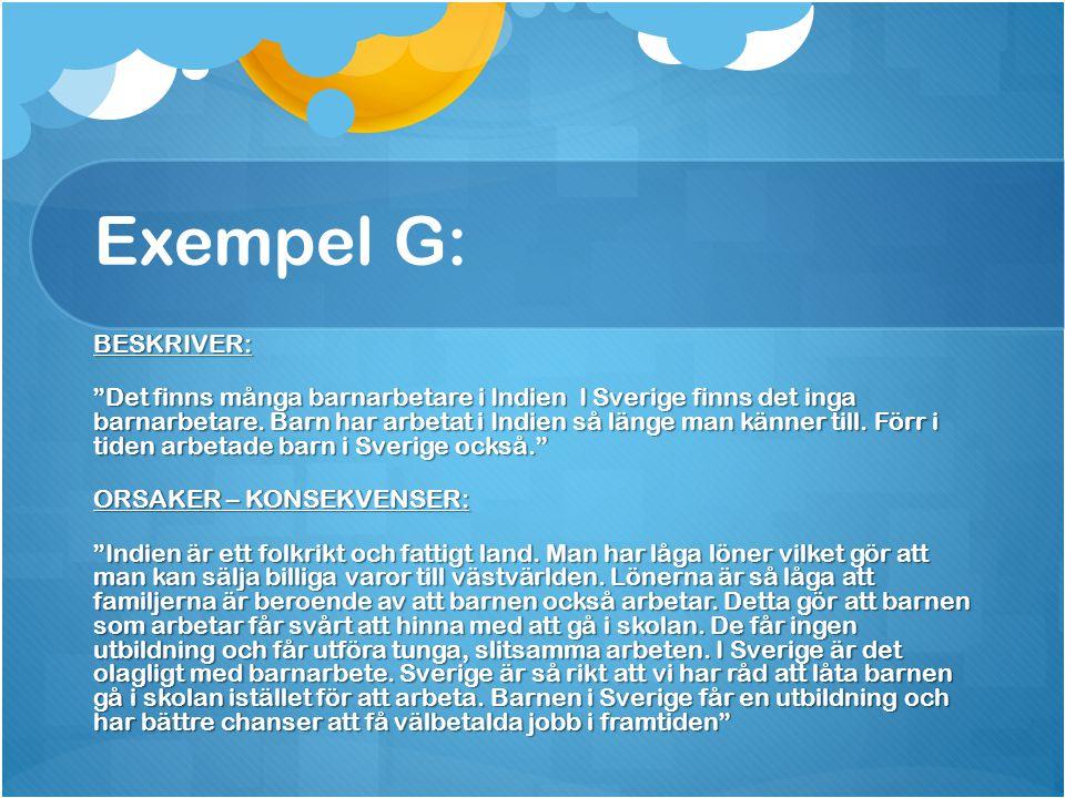 Exempel G: