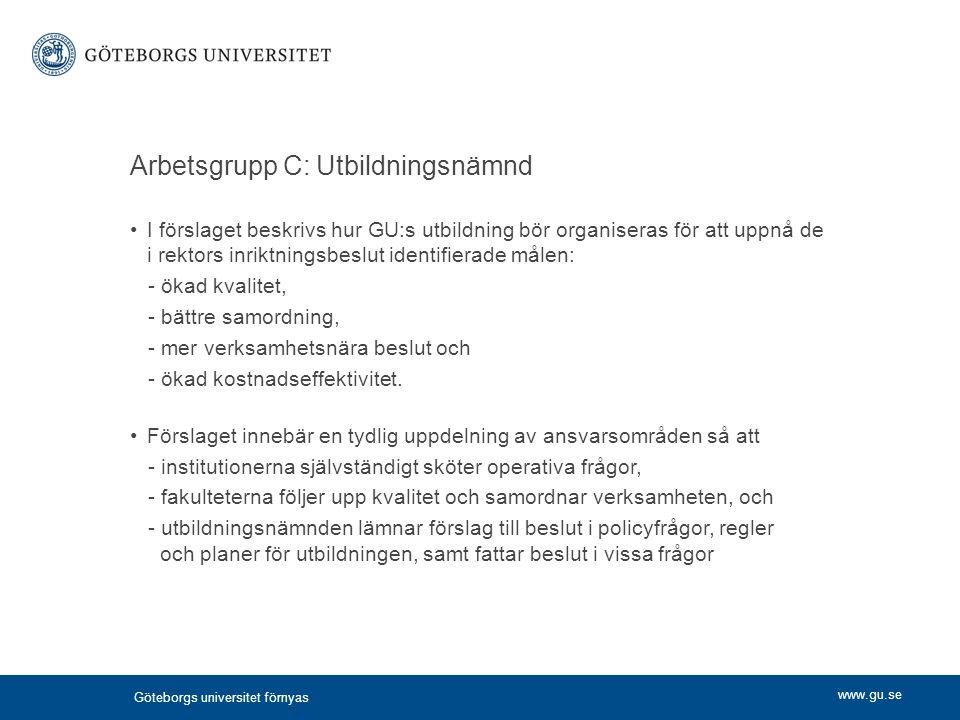 Arbetsgrupp C: Utbildningsnämnd