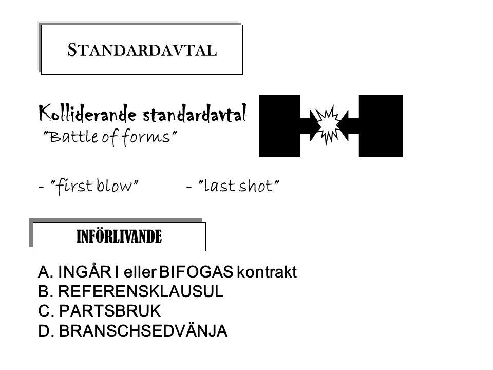 Kolliderande standardavtal