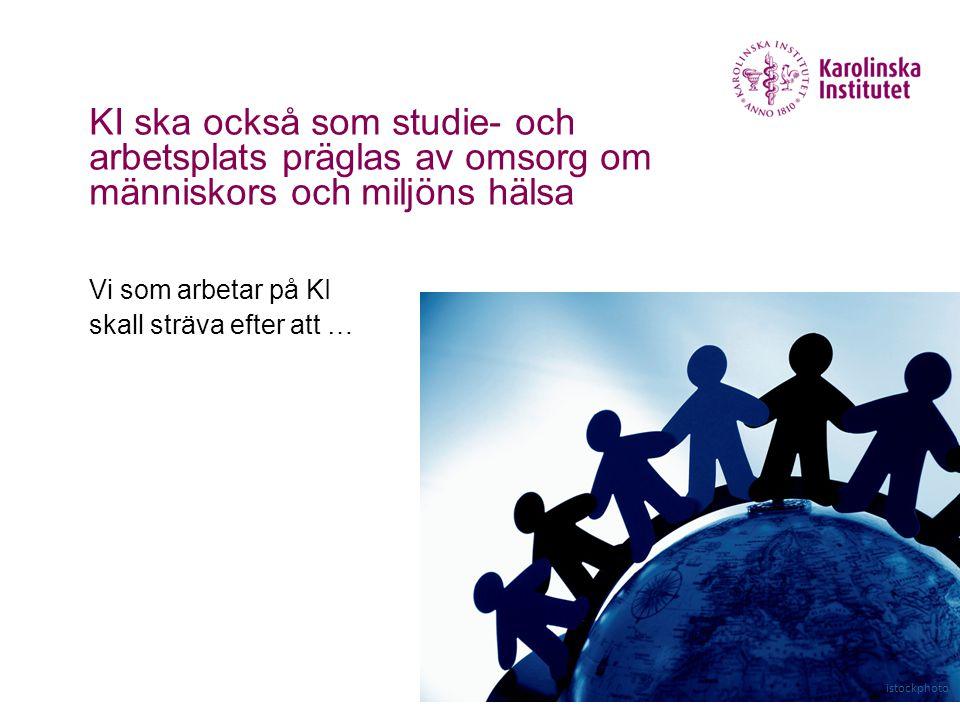 KI ska också som studie- och arbetsplats präglas av omsorg om människors och miljöns hälsa