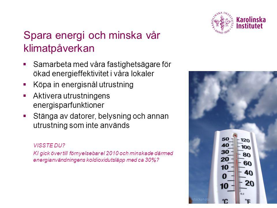 Spara energi och minska vår klimatpåverkan
