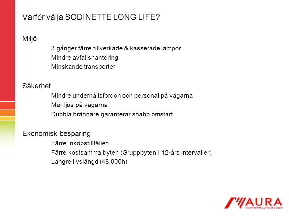 Varför välja SODINETTE LONG LIFE